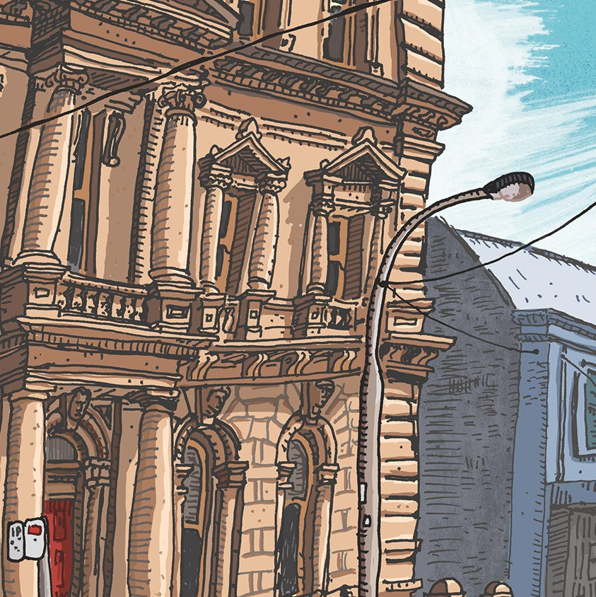 Image of The Mansfield Building, 315 High Street, Maitland, digital print