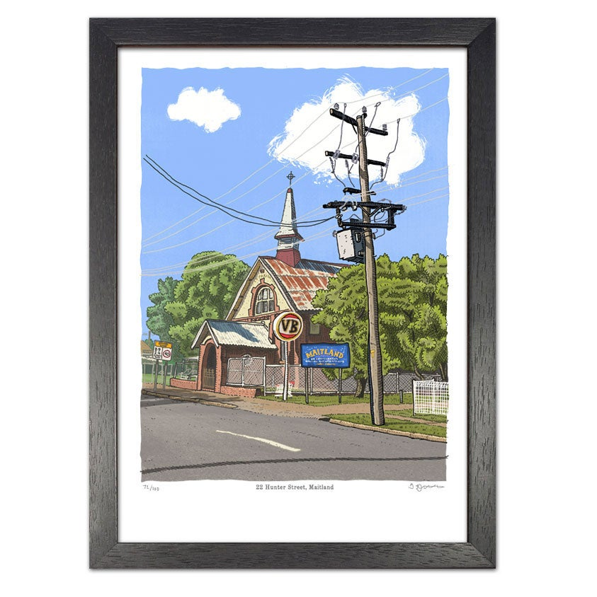 Image of St Pauls Parish Hall, Maitland, digital print
