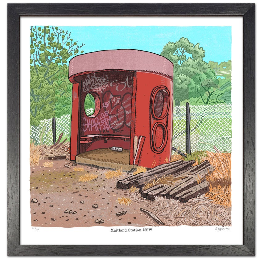 Image of Bus Shelter, Maitland Station, digital print