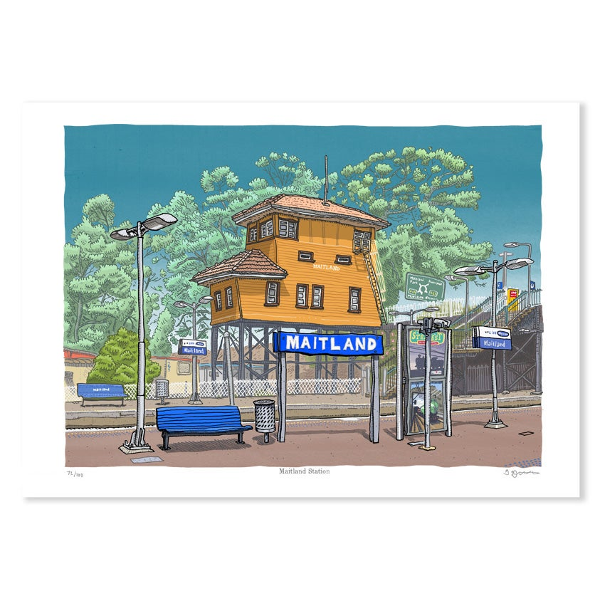 Image of Maitland Station, digital print