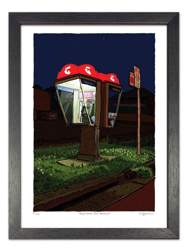 Image of Telephone Box, High Street, East Maitland, digital print
