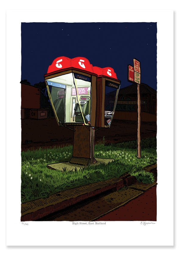 Image of Telephone Box, High Street, East Maitland, digital print
