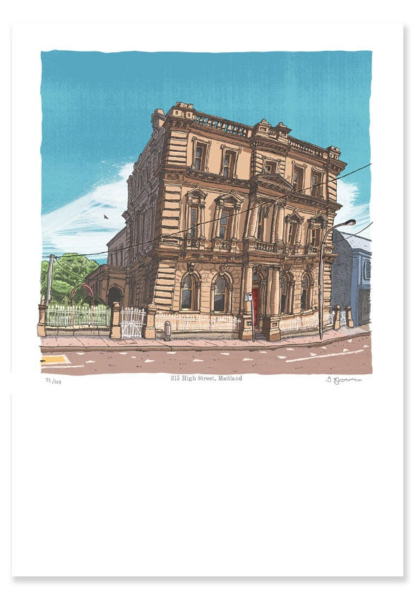 Image of The Mansfield Building, 315 High Street, Maitland, digital print