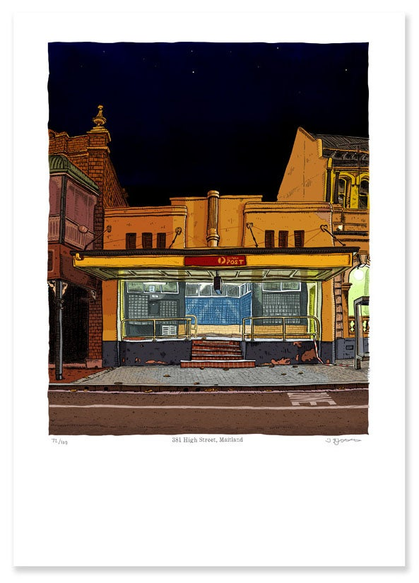 Image of Maitland Post Office. digital print