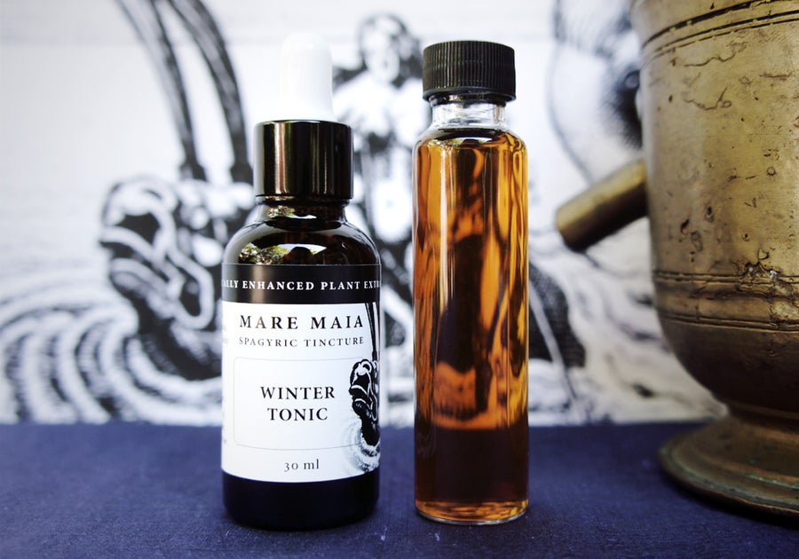 Image of WINTER TONIC BLEND spagyric tincture - alchemically enhanced plant extraction