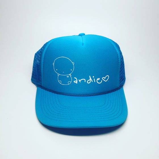 Image of ANDIE bear special edition neon/neon trucker hat
