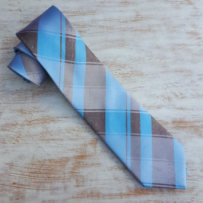 Image of JOURNEY PLAID NECKTIE