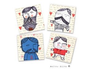 Image of Macho Men Doodle Magnets