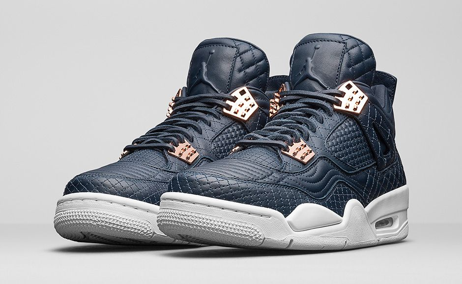 15ff16d4aa4c Image of AIR JORDAN 4 RETRO PREMIUM  NAVY WHITE  ...