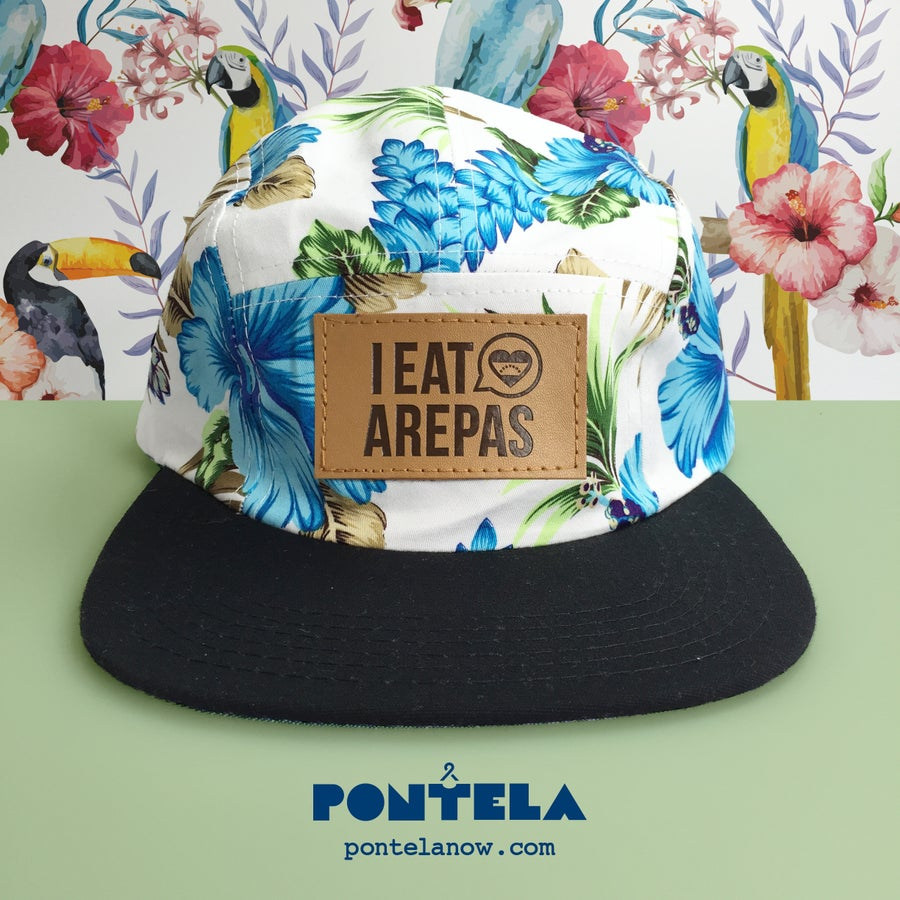 Image of I Eat Arepas Leather Royal