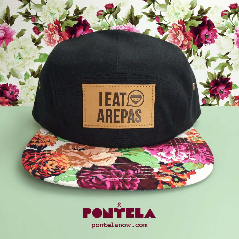Image of I Eat Arepas Leather Clavel