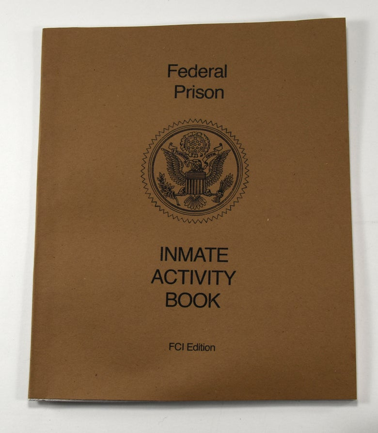 Image of Federal Prison Inmate Activity Book, Daniel Mccarthy Clifford