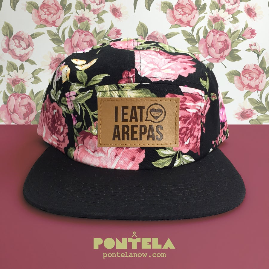 Image of I Eat Arepas Black Roses
