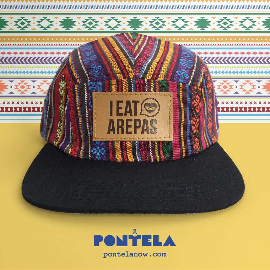 Image of I Eat Arepas Leather Rainbow