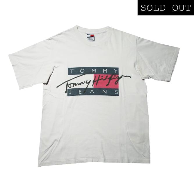 90c46752 Tommy hilfiger Vintage T Shirt Big Logo / Rocca Sport
