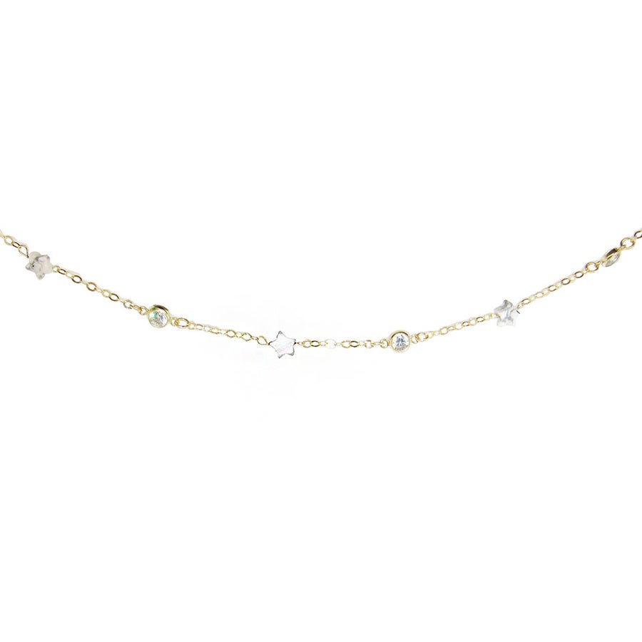 Image of Star Child Howlite & Topaz Anklet
