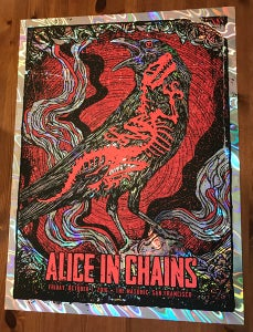 Image of Alice In Chains 2016 Poster Lava Foil Variant