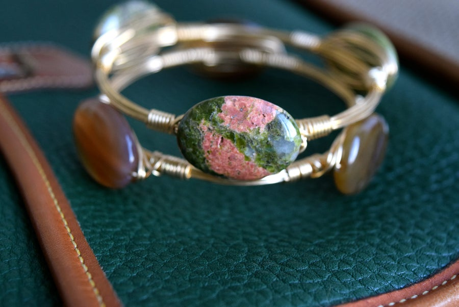 Image of Unakite bangle