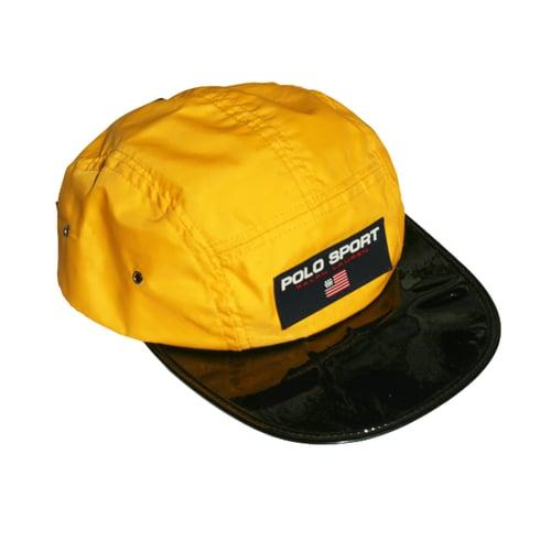 Image of Polo Sport Vintage 5 Panel Nylon Hat Vinyl Bill Strapback