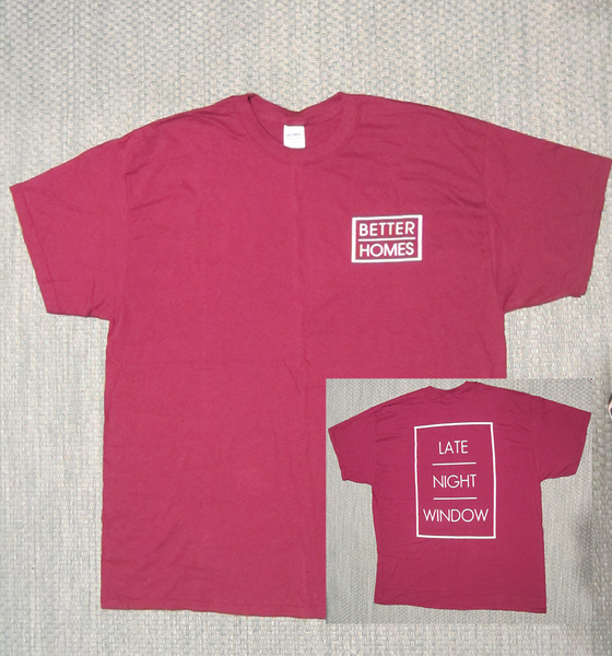 Image of Late Night Window Tee - Burgundy