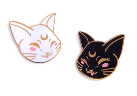 Image of Artemis & Luna Enamel Pin Set