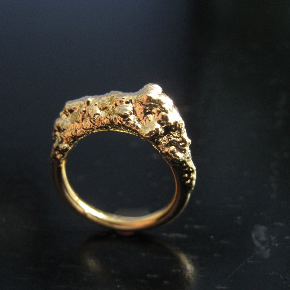 Image of Sand and Surf Stacking Ring, gold