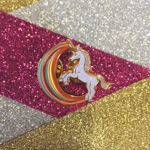 Image of Rainbow Unicorn Pin