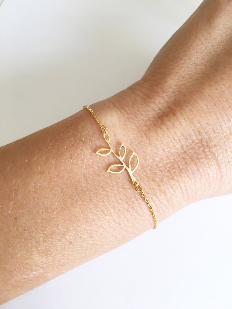 Image of Leaf chain bracelet