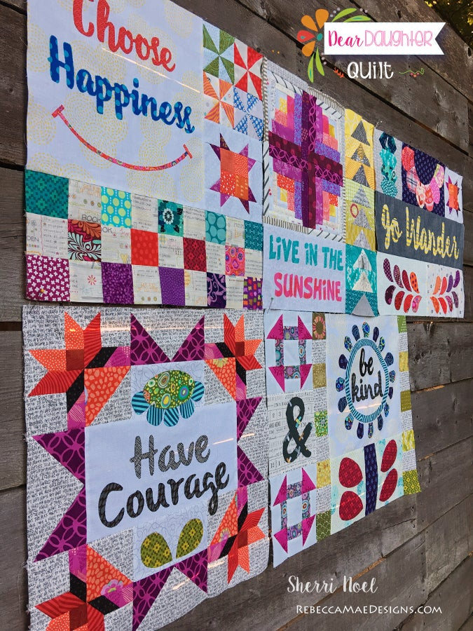 Image of PDF Dear Daughter Block of the Month Quilt