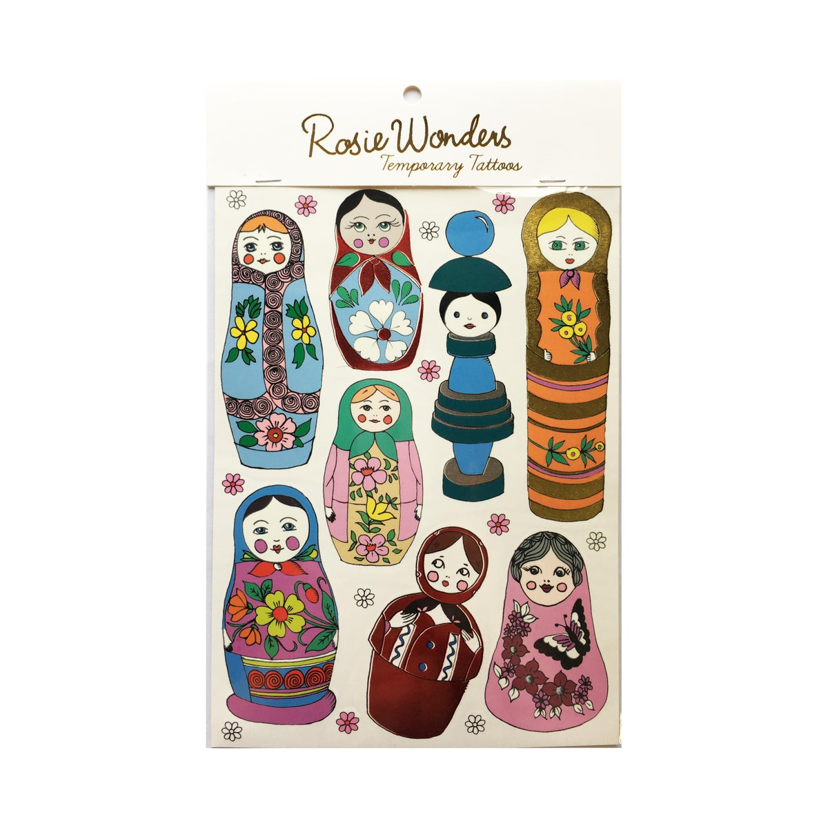 Russian Doll Tattoos with Red Foil