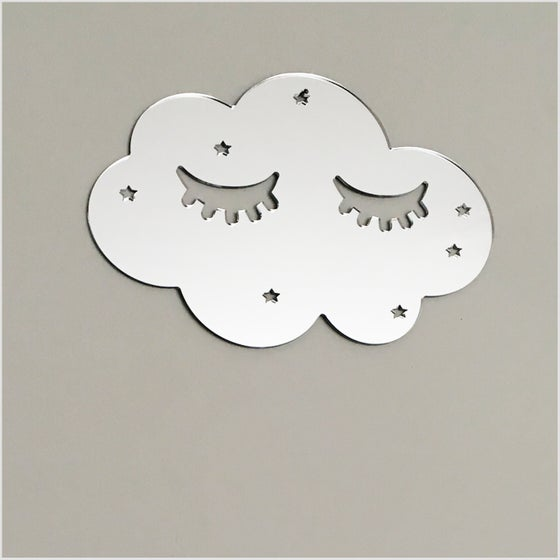 Image of Silver Sleepy Cloud Mirror