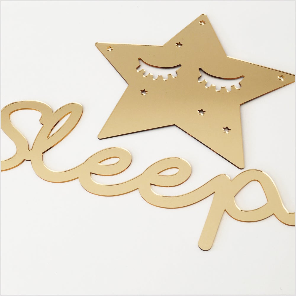 Image of Gold Mirror Sleepy Star