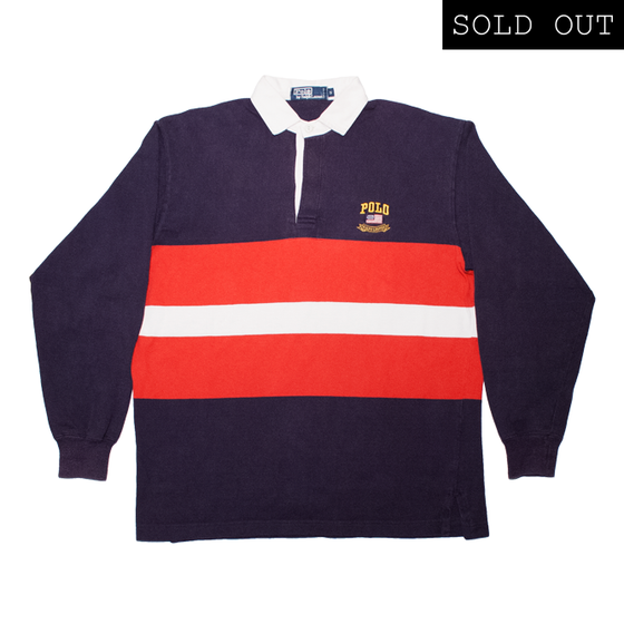 Image of Polo Ralph Lauren Vintage Rugby Shirt Crest Spell Out