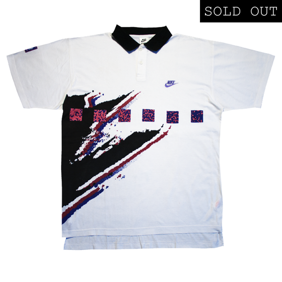 Image of Nike Challenge Court Agassi Vintage Polo Tennis 91 Size L