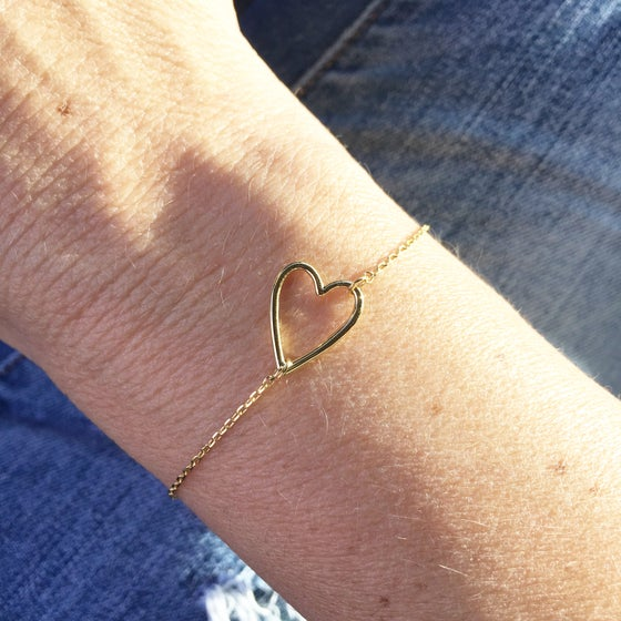 Image of Open heart bracelet