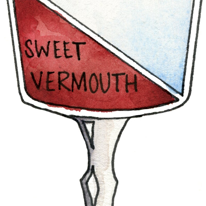 Image of Martinez Cocktail Diagram Art