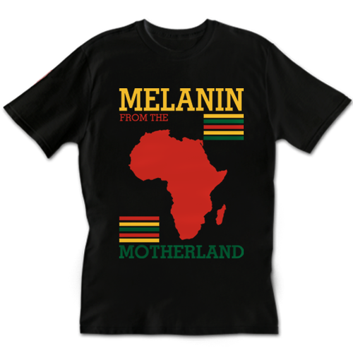 Image of Melanin from the Motherland T-Shirt & Sweater (BLK)