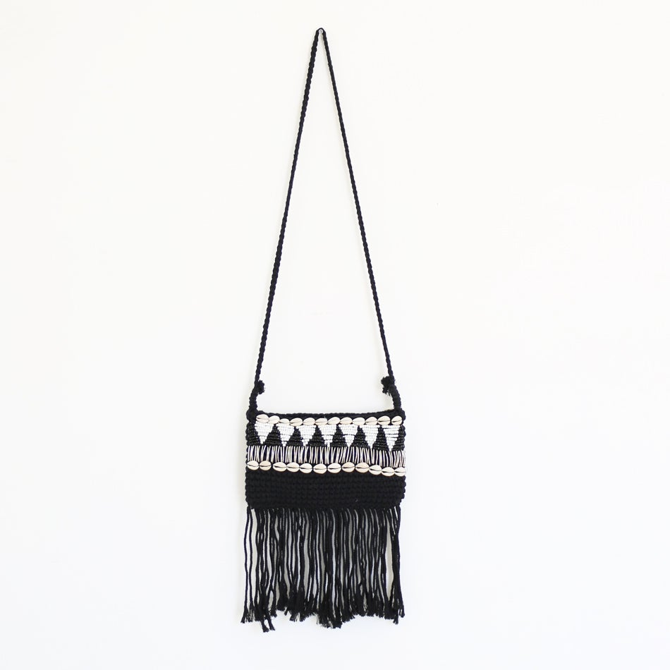 Image of Tribal Black Macrame Bag