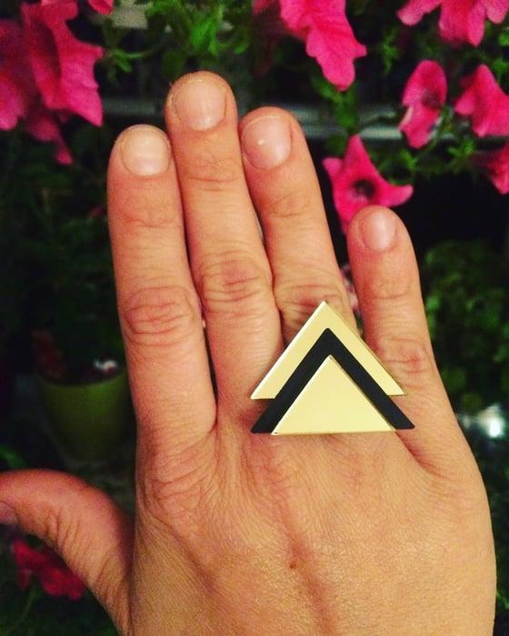 Image of Prsten / Ring GoldenBlack Tri