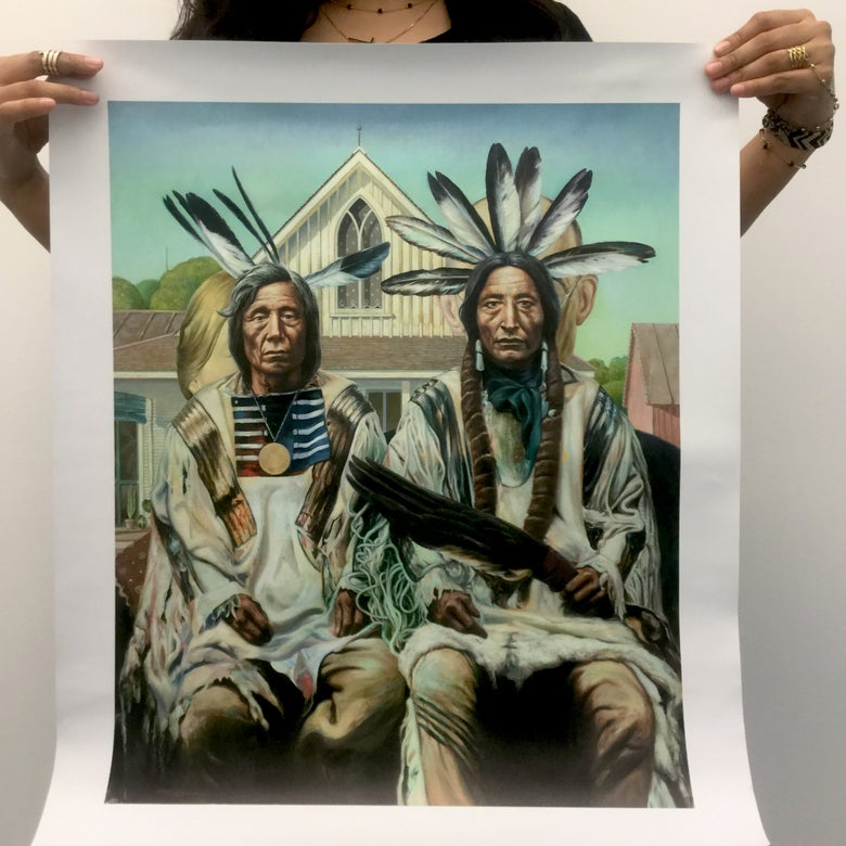 "Image of ""Native American Gothic"" Giclée Print"