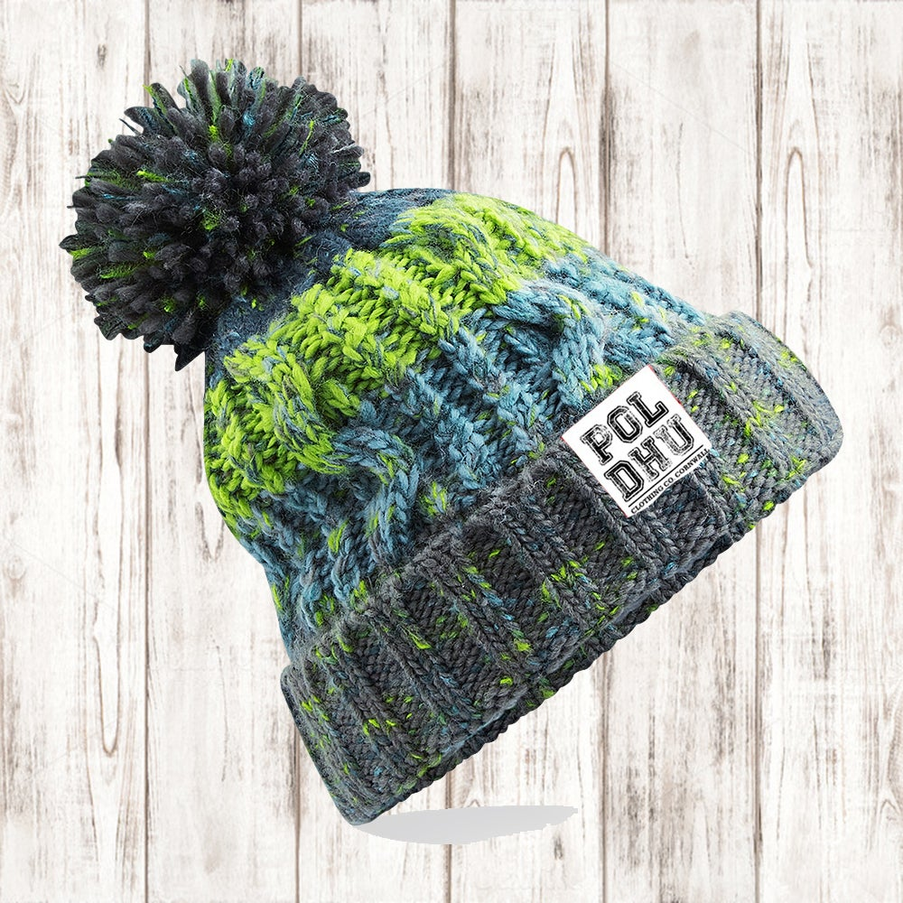 Image of ELECTRIC GREEN BOBBLE HAT
