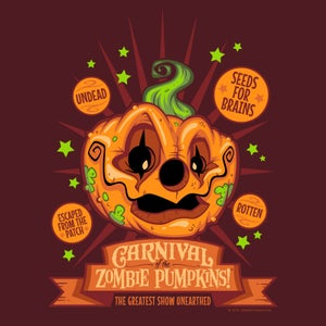 "Image of ""Carnival of the Zombie Pumpkins!"" T-Shirt"
