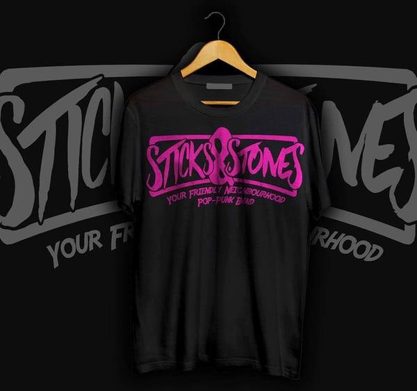 Image of *PRE-ORDER* Logo T-Shirt Black/Pink