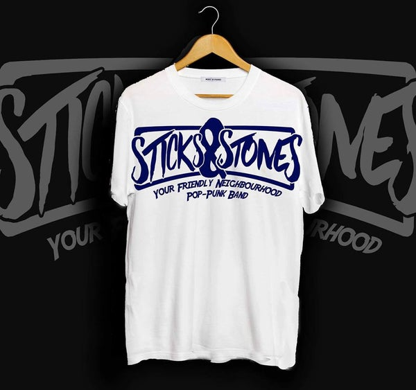 Image of *PRE-ORDER* Logo T-Shirt White/Blue
