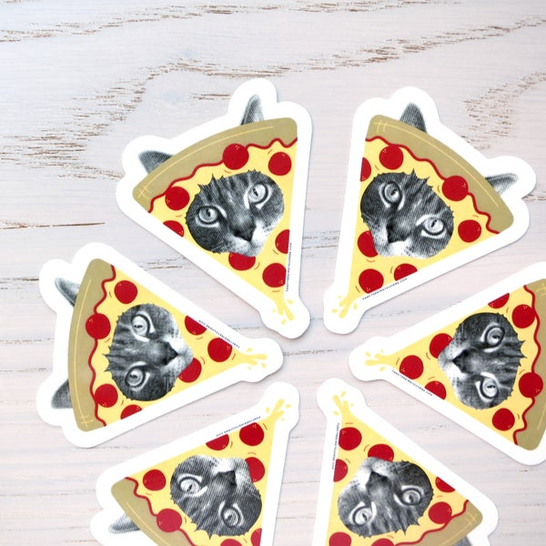 Image of pizza cat stickers