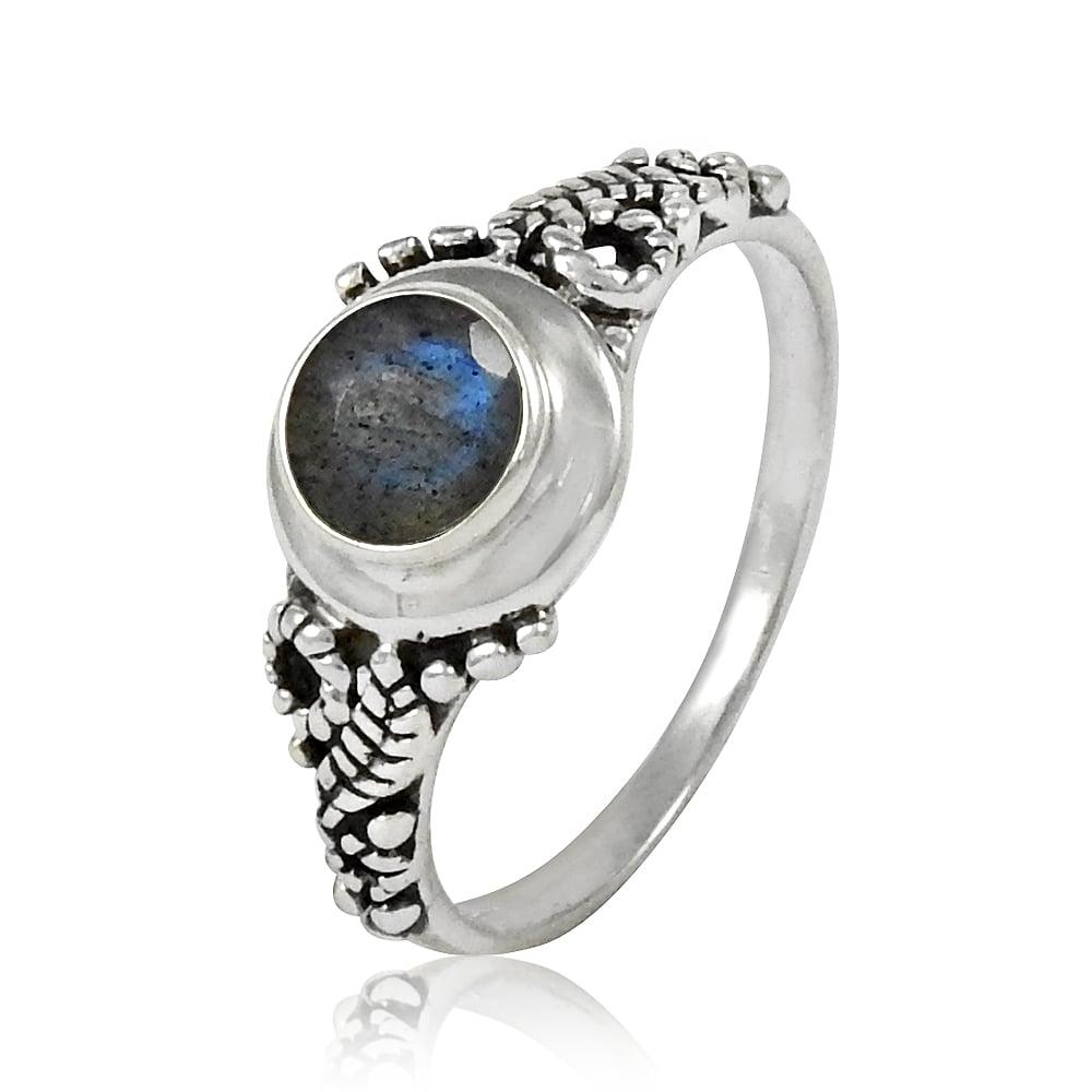 Image of Sterling Silver & Labradorite Harvest Moon Ring
