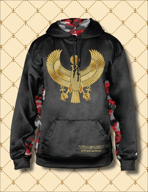 Image of MEN'S/WOMEN'S GOLD HRU CAMO BLOCK PERFORMANCE HOODIE