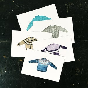 Image of Sweater postcards (set of 5)