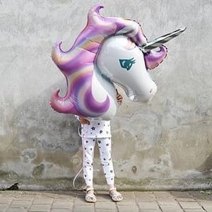 Image of {Purple Unicorn} Mylar Balloon