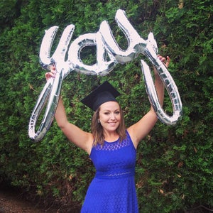 Image of Silver {YAY} Script Balloon